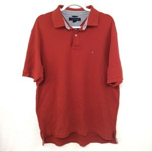 TOMMY HILFIGER Red Polo Shirt XL